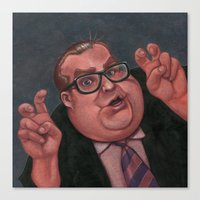 snl Canvas Prints featuring Chris Farley as Bennett Brauer by Shayna Piascik