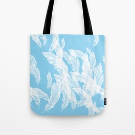 Baby blue feathers Tote Bag