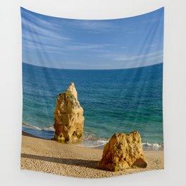 Praia da Rocha rocks Wall Tapestry