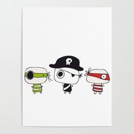 Three Pirates Poster