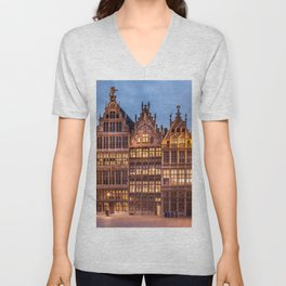 Historically Charged Grand Place Brussel Belgium Europe Ultra HD Unisex V-Neck