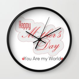T-shirt..Happy Mother Day Wall Clock