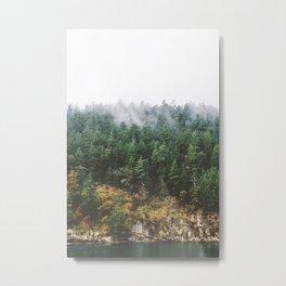 Foggy Vancouver Island Metal Print