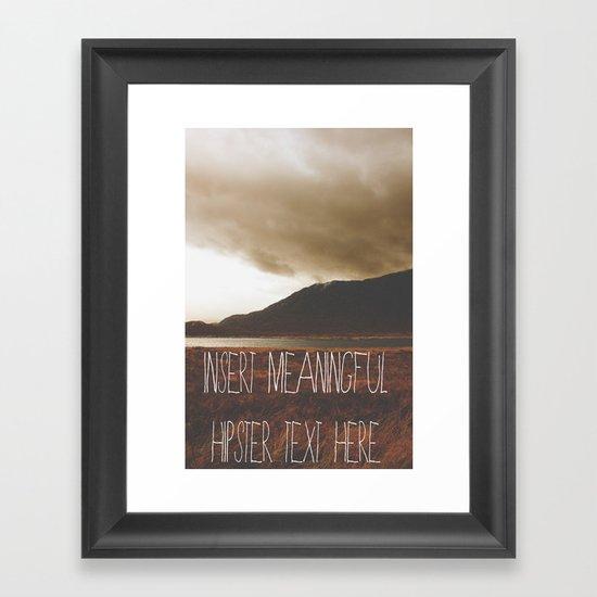 Cynicism  Framed Art Print