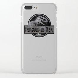 Indominus Rex Logo T-Shirt Clear iPhone Case