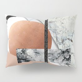 Collage II ( marble, copper, volcanic rock) Pillow Sham