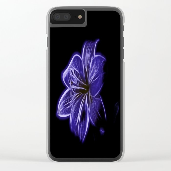 A luminescent flower Clear iPhone Case