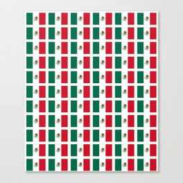 Flag of mexico 2- mexico,mexico city,mexicano,mexicana,latine,peso,spain,Guadalajara,Monterrey Canvas Print