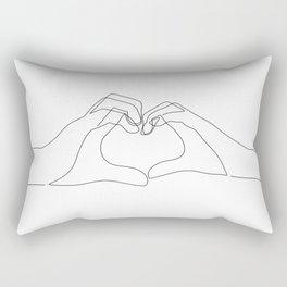 Hand Heart Rectangular Pillow
