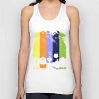 teen titans Tank Tops featuring Vector Titans by Hybryda