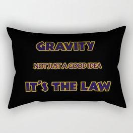 Funny One-Liner Gravity Joke Rectangular Pillow