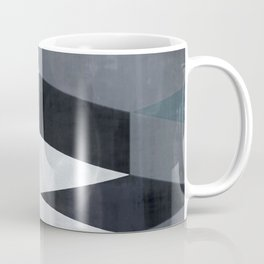 blue abstract, abstract art, office art, contemporary art, geometric print, modern painting, mid cen Coffee Mug