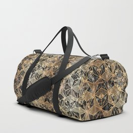 Gold Marble Geometric Duffle Bag