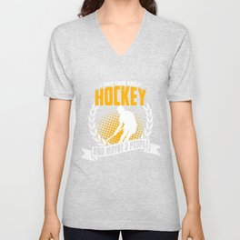 I Only Care About Hockey Unisex V-Neck