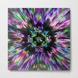 Colorful Tie Dye Abstract Metal Print