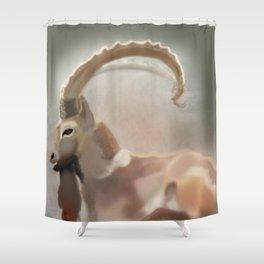 Long horn spirit  Shower Curtain