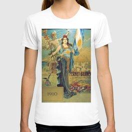 1910 Fernet Branca Liqueur Aperitif Advertisement Poster Print T-shirt