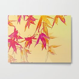 Autumn magic leaves Metal Print