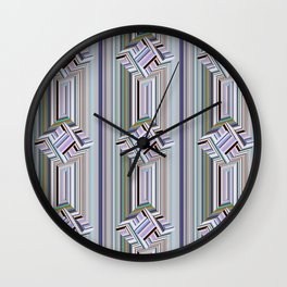 guides colored stripes Wall Clock