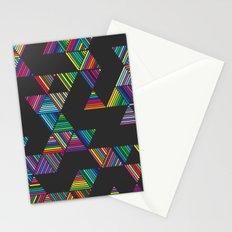 Rainbow Night Rain Stationery Cards