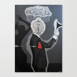 Black series IV - Why Does It Always Rain On Me? Canvas Print
