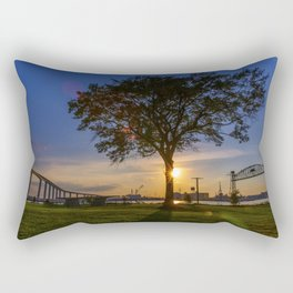Sunset At Elizabeth River Park Rectangular Pillow
