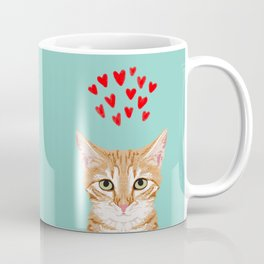 Mackenzie - Orange Tabby Cute Valentines Day Kitten Girly Retro Cat Art cell phone Kaffeebecher
