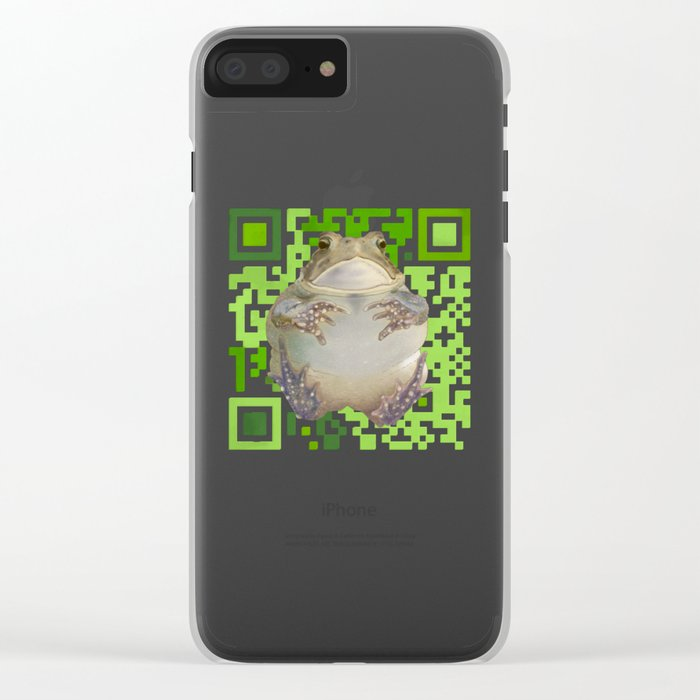 EcoQR Toad Clear iPhone Case