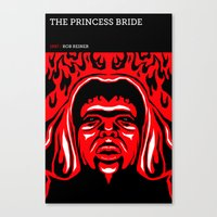 the princess bride Canvas Prints featuring The Princess Bride by David Edward Johnson