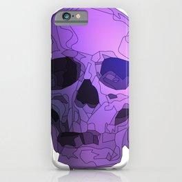 Skull - Violet iPhone Case