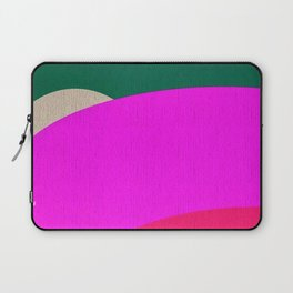 Abstract Composition in Green and Fuchsia Laptop Sleeve
