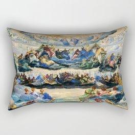 "Tintoretto (Jacopo Robusti) ""The Coronation of the Virgin"", known as ""Paradise"" (1580) Rectangular Pillow"