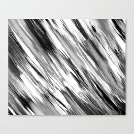 Black and White Painted Tie Dye Multi Media Cool Texture Trending Popular Modern Canvas Print