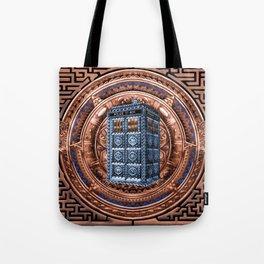Aztec Tardis Doctor Who Full Color Pencils Sketch Tote Bag