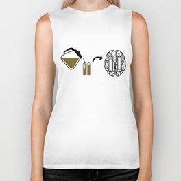 My brain runs on coffee Biker Tank