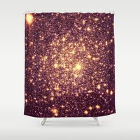rose gold Shower Curtains featuring Rose Gold by Space & Galaxy Dreams