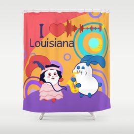 Ernest and Coraline | I love Louisiana Shower Curtain