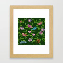 zakiaz magical forest Framed Art Print