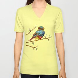 Twilight Bird Unisex V-Neck