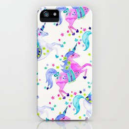 Pastel Unicorns iPhone Case