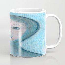 Spiritual Chalks Drawing of The Visitor, Welcome To Stay Coffee Mug