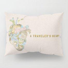 A Traveler's Heart Pillow Sham