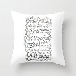 Phoenix Series, Poem in English (Part 2 0f 3) Throw Pillow