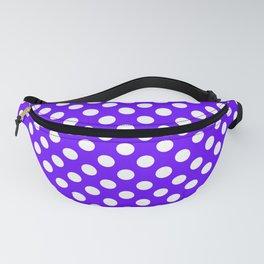 White Polk Dots on Tanzanite Purple - more colors Fanny Pack