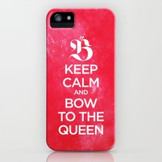 Keep calm and bow to the queen - B iPhone (5, 5s) Slim Case