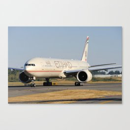 Etihad Airways Boeing 777-300ER A6-ETH Canvas Print