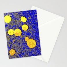 Gold and Blue Harmony Stationery Cards