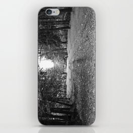 Walking Down A Wooded Road iPhone Skin