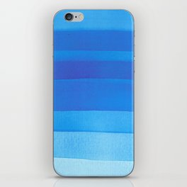 Blue layers abstract iPhone Skin