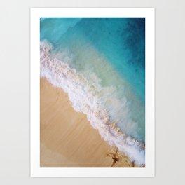 Dream Beach Wave II Art Print